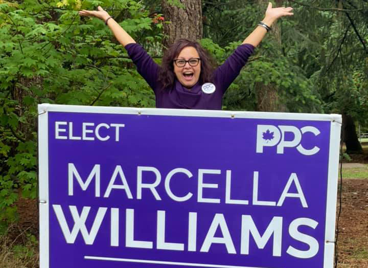 Marcella Williams was the People's Party of Canada's candidate for Burnaby South in the September 2021 election.
